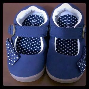 Blue baby shoes. Carters